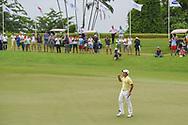 Takumi KANAYA (JPN) celebrates winning the Asia-Pacific Amateur Championship, Sentosa Golf Club, Singapore. 10/7/2018.<br /> Picture: Golffile | Ken Murray<br /> <br /> <br /> All photo usage must carry mandatory copyright credit (© Golffile | Ken Murray)