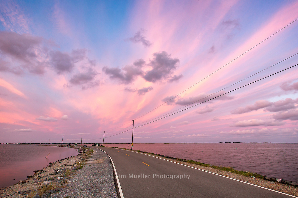 In 1953, a 2 1/2 mile road connecting Isle de Jean Charles to Pointe-aux-Chene was built through the south Louisiana marshland.  Over the years, the marshland has turned into open water leaving the Isle de Jean Charles community cut-off from the rest of Terrebonne Parish.