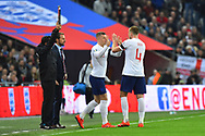 Substitution - Ross Barkley of England replaces Eric Dier of England during the UEFA European 2020 Qualifier match between England and Czech Republic at Wembley Stadium, London, England on 22 March 2019.