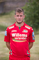 20150626 - OOSTENDE, BELGIUM: Oostende's Ante Blazevic pictured during the 2015-2016 season photo shoot of Belgian first league soccer team KV Oostende, Friday 26 June 2015 in Oostende. BELGA PHOTO KURT DESPLENTER