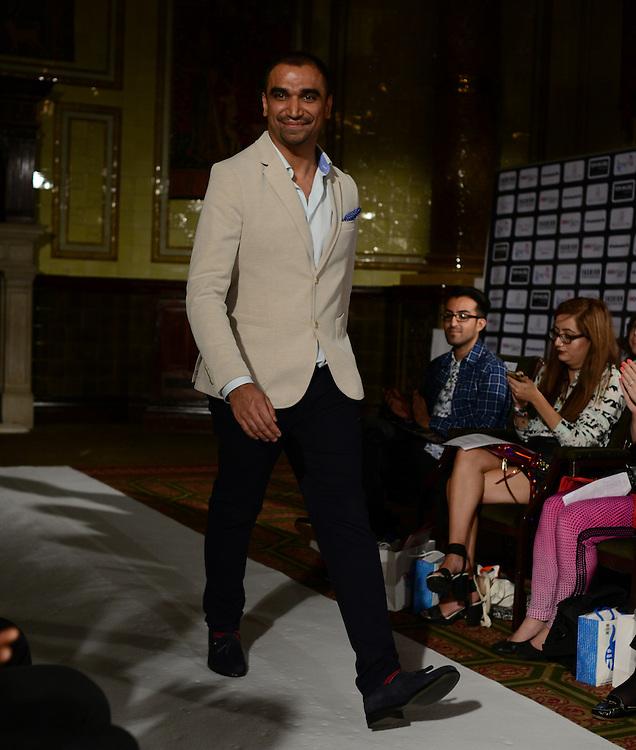 Omar Mansoor fashion show during London Fashion Week SS 2015. 13/09/2014 London, UK. credit: Anne-Marie Michel