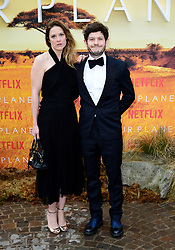 Zoe Grisedale and Iwan Rheon attending the global premiere of Netflix's Our Planet, held at the Natural History Museum, London.