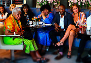 June 12, 2017-New York, New York-United States: (L-R) Civil Rights Activist Dr. Lenora Taitt-Magubane and South African Ambassador Zindzi and others attend ' Cocktails & Conversation with Ambassador Zindzi Mandela 'highlighting the advocacy for the equity and rights of girls and women held at the Lincoln Ristorante at Lincoln Center on June 12, 2017 in New York City. Powered by CareerBox Soweto, the organization's mission is fulfill the hopes and dreams of youth of South Africa. (Photo by Terrence Jennings/terrencejennings.com)