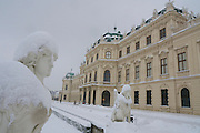 Vienna, Austria. On 1/17/2013, 30+ centimeters of snow fell in Vienna, slowing down many aspects of public life.