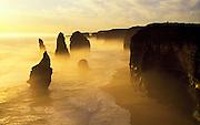 Apostles Misty Sunset<br /> Shot on velvia Film ISO 50<br /> Great Ocean Road