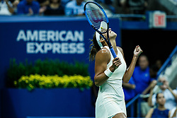 September 5, 2018 - Flushing Meadow, NY, U.S. - FLUSHING MEADOW, NY - SEPTEMBER 05: MADISON KEYS (USA) day ten of the 2018 US Open on September 05, 2018, at Billie Jean King National Tennis Center in Flushing Meadow, NY. (Photo by Chaz Niell/Icon Sportswire) (Credit Image: © Chaz Niell/Icon SMI via ZUMA Press)