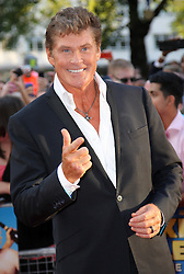 David Hasselhoff arriving for the premiere of Keith Lemon The Film in London, Monday, 20th August 2012. Photo by: Stephen Lock / i-Images