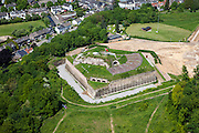 Nederland, Limburg, Gemeente Maastricht, 27-05-2013; Fort Sint Pieter, thans een toeristische attractie.  <br /> Tourist attraction the fortress St. Pieter near Maastricht<br /> luchtfoto (toeslag op standaardtarieven);<br /> aerial photo (additional fee required);<br /> copyright foto/photo Siebe Swart.