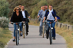 Le Touquet: French President Emmanuel Macron and Brigitte Macron take a bicycle ride - 10 June 2017