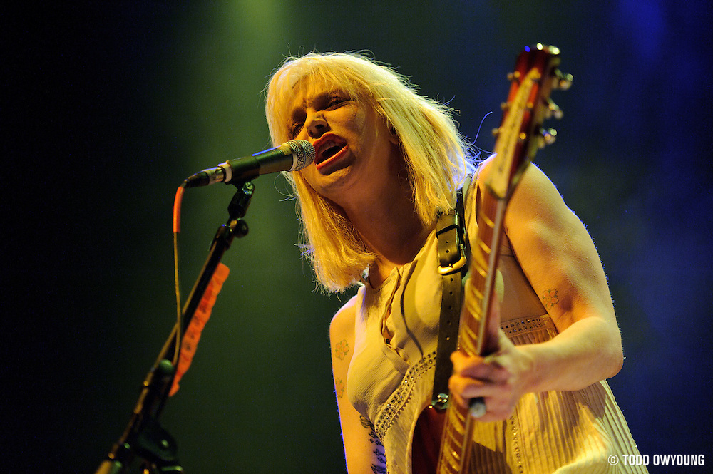 Courtney Love performing with Hole on July 13, 2010 at the Pageant in St. Louis, photographed by music photographer Todd Owyoung