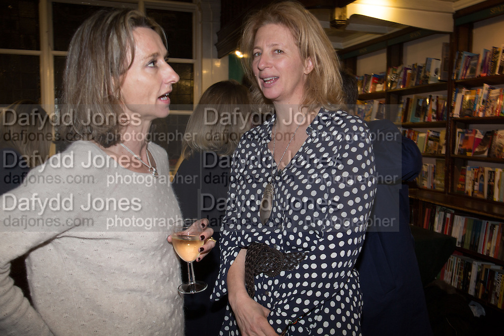 DAISY WAUGH; SAMANTHA WEINBERG  Allie Esiri's The Love Book launch party , Daunt Books <br /> 83 Marylebone High Street, London. 5 February 2014