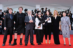 Members of the jury Orizzonti, US director Ami Canaan Mann, Belgian director Fien Troch, French director Rebecca Zlotowski, Iranian director Rakhshan Bani Etemad, president of the jury Gianni Amelio, British director Mark Cousins and screenwriter Andres Duprat attending the Opening Ceremony and the Premiere of the movie Downsizing during the 74th Venice International Film Festival (Mostra di Venezia) at the Lido, Venice, Italy on August 30, 2017. Photo by Aurore Marechal/ABACAPRESS.COM