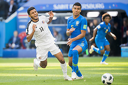 June 22, 2018 - Sankt Petersburg, Russia - 180622 Johan Venegas of Costa Rica and Casemiro of Brazil during the FIFA World Cup group stage match between Brazil and Costa Rica on June 22, 2018 in Sankt Petersburg..Photo: Petter Arvidson / BILDBYRÃ…N / kod PA / 92075 (Credit Image: © Petter Arvidson/Bildbyran via ZUMA Press)