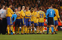 A DEJECTED CLAUS LUNDEKVAM SOUTHAMPTON AND TEAM MATES AFTER FINAL WHISTLE <br />