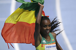 2018?3?1?.     ?????1???——????????3000?????.        3?1?? Genzebe Dibaba???3000???????.        ????????????2018???????????3000????????????Genzebe Dibaba?8?45?05????????.        ???????·???????????.(SP) BRITAIN-BIRMINGHAM-TRACK AND FIELD-IAAF WORLD INDOOR CHAMPIONSHIPS DAY 1.(180301) -- LONDON, Mar. 1, 2018  Genzebe Dibaba of Ethiopia celebrates winning the women's 3000m final during the IAAF World Indoor Championships at Arena Birmingham in Birmingham, Britain on Mar. 1, 2018. (Credit Image: © Tim Ireland/Xinhua via ZUMA Wire)