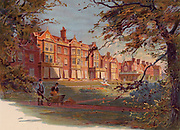 Sandringham House,  Norfolk, England, c1890, a country residence of the British royal family from 1862.