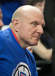 October 21, 2017 - Los Angeles, California, U.S - L.A. Clippers owner, Steve Ballmer attends the Los Angeles  Clippers home opener game of the regular season against  the Phoenix Suns on Saturday October 21, 2017 at the  Staples Center in Los Angeles, California. Clippers defeat  Suns, 130-88. (Credit Image: © Prensa Internacional via ZUMA Wire)