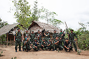 KNLA soldiers in a military camp on the frontline with the SPDC. .With its 6 brigades, KNLA keeps the military control of the Karen State. In January 2012, the KNU and the Burma Government reached an agreement on a ceasefire. The agreement is based on 6 points, including the resettlement in the Karen State of a part of the IDPs.