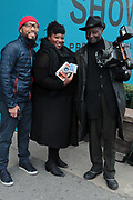 April 8, 2018-New York, New York-United States: (L-R) Photographers Zun Lee, Nina Robinson and Louis Mendes attend the Photography Show presented by AIPAD held at Pier 94 on April 8, 2018 in New York City. The Photography Show, held at Pier 94, is the longest-running and foremost exhibition dedicated to the photographic medium, offering contemporary, modern, and 19th century photographs as wells photo-based art, video and new media.(Photo by Terrence Jennings/terrencejennings.com)