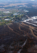 Aerial photograph of Devil's Head Golf Course and Ski Hill, Sauk County, Wisconsin, USA.