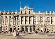 Plaza de la Armeria, Armory Square, Palacio Real royal palace, Madrid, Spain