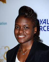 Nicola Adams attends Out In The City and g3 Readers' Awards, second annual awards thrown by gay magazines g3 and Out In The City, recognising outstanding individuals, companies and groups in the field of LGBT equality, at The Landmark Hotel,  London, United Kingdom. Friday, 25th April 2014. Picture by Nils Jorgensen / i-Images