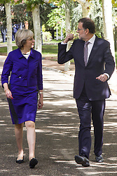 Brexit Tour: Premier Theresa May zu Gast bei Mariano Rajoy in Madrid<br /> <br /> / 131016<br /> <br /> *** The Prime Minister May visiting Madrid, Spain; October 13th, 2016 ***