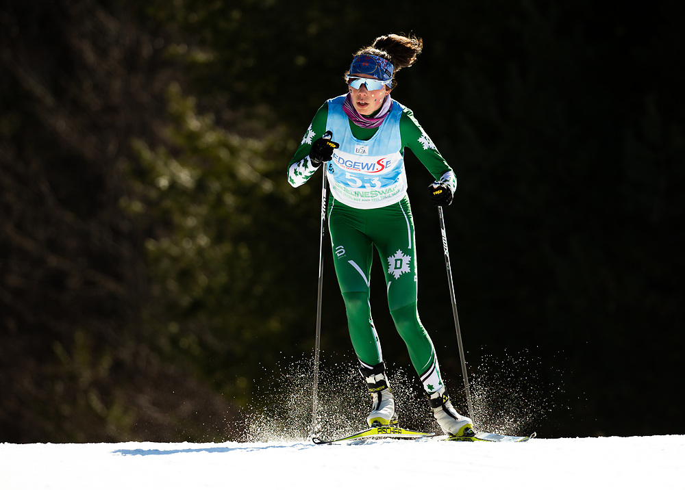 Anna Lehmann of Dartmouth College<br /> Colby Carnival 5k/10k Skate<br /> January 31, 2020<br /> Waterville, ME