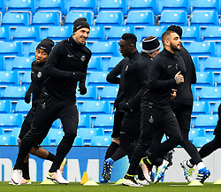 Zlatan Ibrahimovic of PSG trains - Mandatory byline: Matt McNulty/JMP - 07966386802 - 11/04/2016 - FOOTBALL - Manchester City v PSG - Etihad Stadium -Manchester,England - UEFA Champions League
