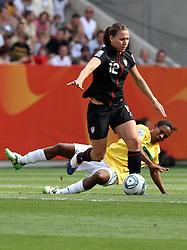 10.07.2011, Glückgas Stadion, Dresden,  GER, FIFA Women Worldcup 2011, Viertelfinale , Brasil (BRA) vs USA (USA)  im Bild   .Rosana (BRA) gegen Lauren Cheney (USA)  .//  during the FIFA Women Worldcup 2011, Quarterfinal, Germany vs Japan  on 2011/07/10, Arena im Allerpark , Wolfsburg, Germany.  .EXPA Pictures © 2011, PhotoCredit: EXPA/ nph/  Hessland       ****** out of GER / CRO  / BEL ******