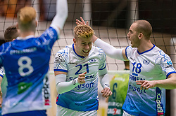 Bennie Tuinstra of Lycurgus, Dennis Borst of Lycurgus in action during the league match between Active Living Orion vs. Amysoft Lycurgus on March 20, 2021 in Doetinchem.