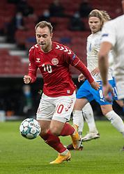 Christian Eriksen (Danmark) afslutter under kampen i Nations League mellem Danmark og Island den 15. november 2020 i Parken, København (Foto: Claus Birch).