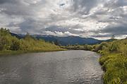 Indian Creek, Grizzly Ridge, Heart K Ranch, Genesee Valley, California Mountains, Sierra Nevada, Dark Skies, Sunlight Through Clouds