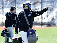 Chester, New York  - Mount Saint Mary College baseball players walk off the field after a game against SUNY Brockport in a baseball game at The Rock Sports Park on Feb. 26, 2012.