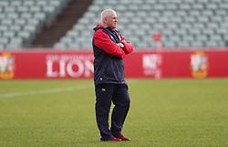British & Irish Lions head coach Warren Gatland during the training session at the QBE Stadium, North Shore City.