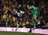 Football - 2018 / 2019 EFL Carabao Cup (League Cup) - Third Round: Tottenham Hotspur vs. Watford<br /> <br /> Tottenham Hotspur's Serge Aurier battles for possession with Watford's Adam Masina, at Stadium MK.<br /> <br /> COLORSPORT/ASHLEY WESTERN