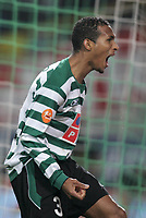 """LISBOA 21 MARCH 2005: # and # in the 26 leg of the Super Liga, season 2004/2005, match  Sporting CP (2) vs FC Porto (0), held in """"Alvalade XXI"""" stadium,  21/03/2005  21:52:34<br /> (PHOTO BY: NUNO ALEGRIA/AFCD)<br /> <br /> PORTUGAL OUT, PARTNER COUNTRY ONLY, ARCHIVE OUT, EDITORIAL USE ONLY, CREDIT LINE IS MANDATORY AFCD-PHOTO AGENCY 2004 © ALL RIGHTS RESERVED"""