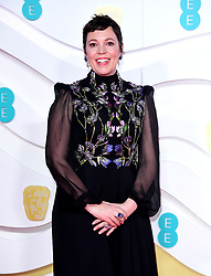 Olivia Colman attending the 73rd British Academy Film Awards held at the Royal Albert Hall, London.