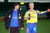 Fotball, treningskamp Molde - Sundsvall 2-2<br /> Trener for Sundsvall Jan Halvor Halvorsen og Patrik Eriksson-Olsson<br /> Foto: Carl-Erik Eriksson, Digitalspor