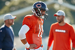 July 28, 2018 - Bourbonnais, IL, U.S. - BOURBONNAIS, IL - JULY 28: Chicago Bears quarterback Mitchell Trubisky (10) participates in drills during the Chicago Bears training camp on July 28, 2018 at Olivet Nazarene University in Bourbonnais, Illinois. (Photo by Robin Alam/Icon Sportswire) (Credit Image: © Robin Alam/Icon SMI via ZUMA Press)