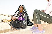 Israel, Negev Desert, Bedouin woman in traditional dress