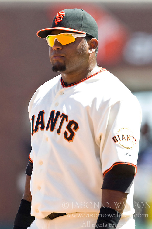 April 25, 2010; San Francisco, CA, USA;  San Francisco Giants third baseman Pablo Sandoval (48) during the fifth inning against the St. Louis Cardinals at AT&T Park. St. Louis defeated San Francisco 2-0.