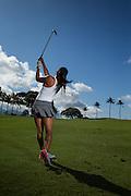 Portraits of Maui Fitness Trainer and Golfer Maria Alvarez