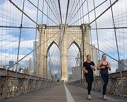Brooklyn Bridge in Manhattan New York City  USA