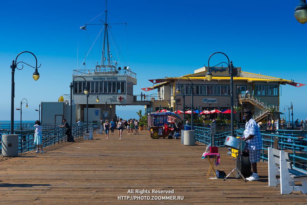 Santa Monica pier boardwalk, LA, California