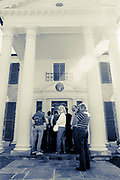 Tourists waiting to enter Graceland in Memphis, Tennessee (1988)