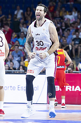 September 17, 2018 - Madrid, Spain - Ronalds Zakis of Latvia during the FIBA Basketball World Cup Qualifier match Spain against Latvia at Wizink Center in Madrid, Spain. September 17, 2018. (Credit Image: © Coolmedia/NurPhoto/ZUMA Press)