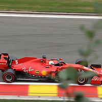 28.08.2020, Circuit de Spa-Francorchamps, Spa-Franchorchamps, FORMULA 1 ROLEX BELGIAN GRAND PRIX 2020<br />  , im Bild<br /> Sebastian Vettel (GER#5), Scuderia Ferrari<br /> <br /> <br /> Foto © nordphoto / Bratic