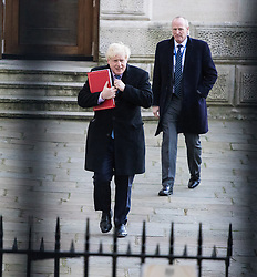 Downing Street, London, November 29th 2016. Foreign and Commonwealth Secretary Boris Johnson arrives at 10 Downing Street for the weekly meeting of the UK cabinet.