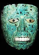 Turquoise mosaic mask AD 1400-1521